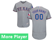 Mens Majestic Texas Rangers Gray Flex Base Current Player Jersey