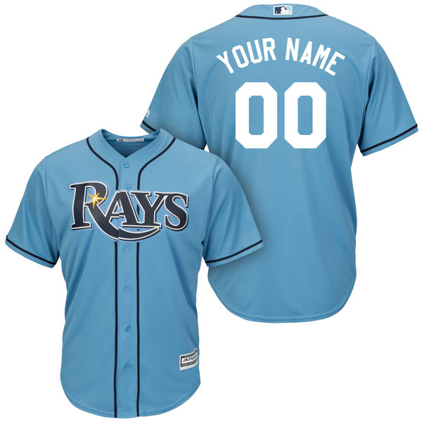 Mens Womens Youth Majestic Tampa Bay Rays Blue Cool Base Current Player Jersey