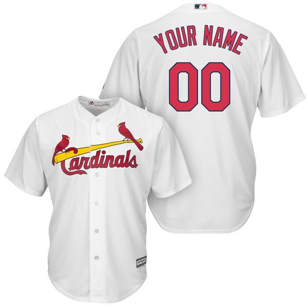 Mens Womens Youth Majestic St. Louis Cardinals White Cool Base Current Player Jersey