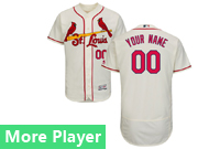 Mens Majestic St. Louis Cardinals Cream Flex Base Current Player Jersey