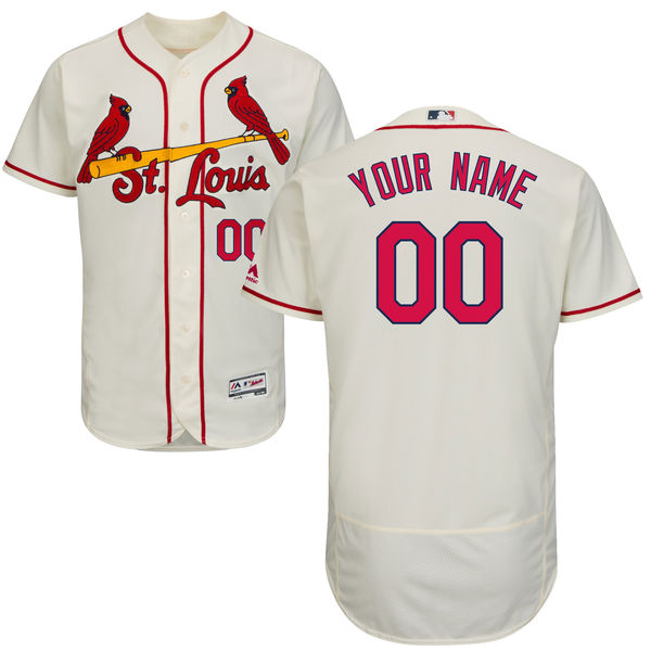 Mens Majestic St. Louis Cardinals Cream Flex Base Current Player Jersey