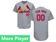Mens Majestic St. Louis Cardinals Gray Flex Base Current Player Jersey