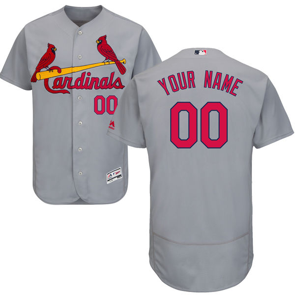 Mens Majestic St. Louis Cardinals Gray Flex Base Current Player Jersey
