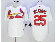 Mens Mlb St.louis Cardinals #25 Mark Mcgwire White Cool Base Jersey