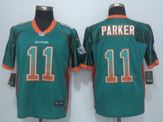 Mens Nfl Miami Dolphins #11 Devante Parker Drift Fashion Green Elite Jerseys