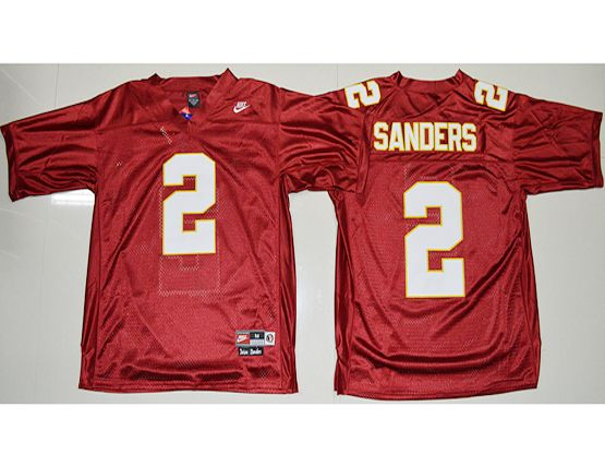 428ded4e4 Mens Ncaa Nfl Florida State Seminoles  2 Deion Sanders 2017 Red (fsu) Jersey