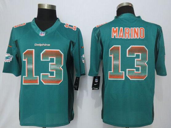 Mens Nfl Miami Dolphins #13 Dan Marino Green Strobe Limited Jersey