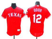 mens majestic texas rangers #12 rougned odor red Flex Base jersey