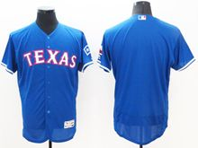 mens majestic texas rangers blank blue Flex Base jersey