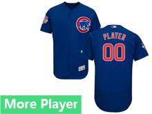 Mens Majestic Chicago Cubs Blue Flex Base Current Player Jersey