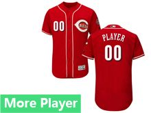 Mens Majestic Cincinnati Reds Red Flex Base Current Player Jersey