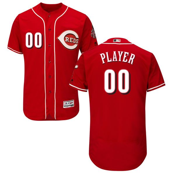 Mens Majestic Cincinnati Reds Red Flex Base Current Player Jersey