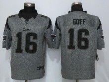 Mens Nfl St.louis Rams #16 Jared Goff Gray Stitched Gridiron Limited Jersey
