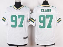 Mens Nfl Green Bay Packers #97 Kenny Clark White Elite Jersey