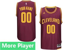 Mens Adidas Cleveland Cavaliers Red Swingman Road Current Player Jersey
