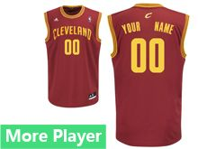Mens Adidas Cleveland Cavaliers Red Road Current Player Jersey
