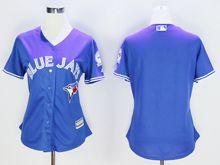Women Mlb Toronto Blue Jays Blank Blue (40th Anniversary Mark) Jersey