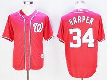 Mens Mlb Washington Nationals #34 Bryce Harper Red Jersey