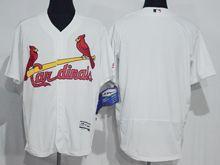 mens majestic st.louis cardinals blank white Flex Base jersey