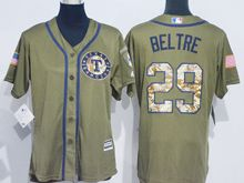 Women Mlb Texas Rangers #29 Adrian Beltre Green Fashion 2016 Memorial Day Jersey