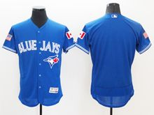 mens majestic toronto blue jays blank blue royal fashion stars stripes Flex Base jersey
