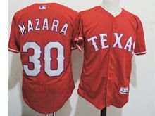 mens majestic texas rangers #30 nomar mazara red Flex Base jersey