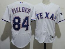 mens majestic texas rangers #84 prince fielder white Flex Base jersey