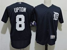 mens majestic detroit tigers #8 justin upton dark blue Flex Base jersey