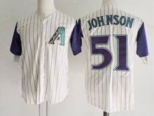 Mens Mlb Arizona Diamondbacks #51 Randy Johnson Maize-yellow Stripe Jersey