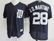 mens majestic detroit tigers #28 j.d.martinez dark blue Flex Base jersey