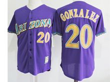 Mens Mlb Arizona Diamondbacks #20 Luis Gonzalez Purple Jersey