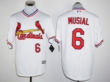 Mens Mlb St.louis Cardinals #6 Stan Musial White Pullover Jersey