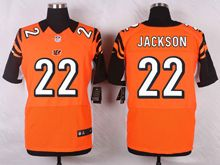 Mens Nfl Cincinnati Bengals #22 Hue Jackson Orange Elite Jersey