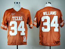 Mens Ncaa Nfl Texas Longhorns #34 Ricky Williams Burnt Orange Throwback Jersey