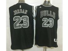 Mens Nba Chicago Bulls #23 Michael Jordan Black (black Number) Revolution 30 Mesh Jersey
