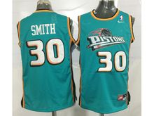 Mens Nba Detroit Pistons #30 Josh Smith Green Mesh Jersey
