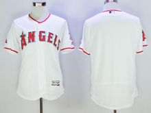 mens majestic los angeles angels blank white Flex Base jersey