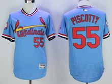mens majestic st.louis cardinals #55 stephen piscotty blue throwbacks Flex Base jersey