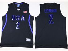 Mens Nba 12 Dream Teams #2 Leonard Black Jersey