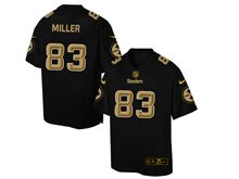 Mens Nfl Pittsburgh Steelers #83 Heath Miller Pro Line Black Gold Collection Jersey