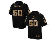 Mens Nfl Pittsburgh Steelers #50 Ryan Shazier Pro Line Black Gold Collection Jersey