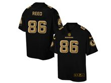 Mens Nfl Washington Redskins #86 Jordan Reed Pro Line Black Gold Collection Jersey