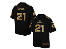 Mens Nfl Washington Redskins #21 Sean Taylor Pro Line Black Gold Collection Jersey