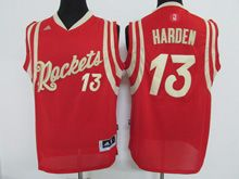 Mens Nba Houston Rockets #13 Harden Red Red (2016 Christmas) Jersey