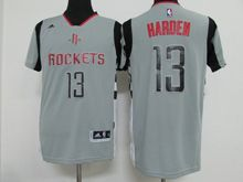 Mens Nba Houston Rockets #13 Harden Gray Revolution 30 Jersey