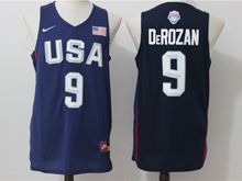Mens Nba 12 Dream Teams #9 Demar Derozan Blue Jersey