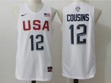Mens Nba 12 Dream Teams #12 Demarcus Cousins White Jersey