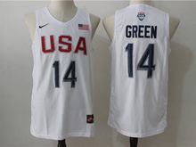 Mens Nba 12 Dream Teams #14 Draymond Green White Jersey