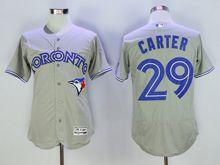 mens majestic toronto blue jays #29 joe carter gray Flex Base jersey