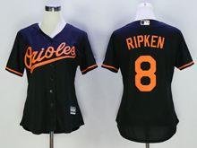 Women Mlb Baltimore Orioles #8 Cal Ripken Black Jersey